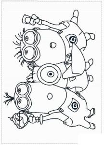 målarbok Minions 15