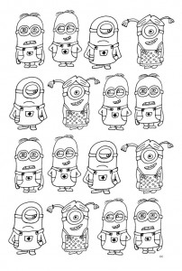 coloring page minions 16