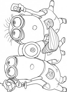 coloring page minions 17