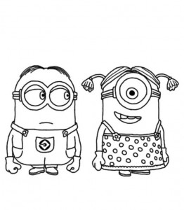 coloring page minions 18