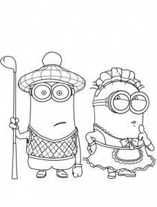 coloring page minions 20