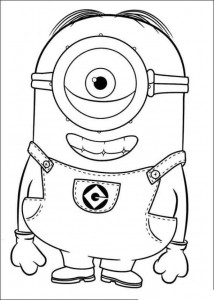 coloring page minions 21