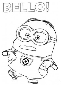 coloring page minions 22