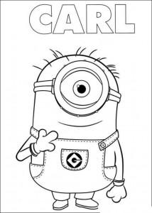 coloring page minions 23