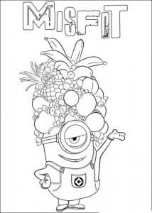coloring page minions 24