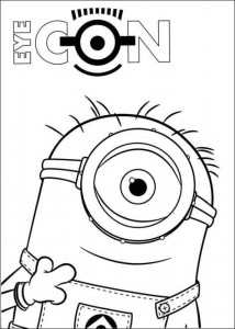 coloring page minions 26