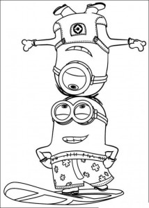 coloring page minions 27