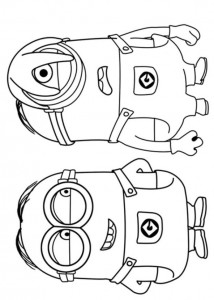 coloring page minions 30