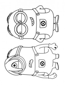 coloring page minions 32