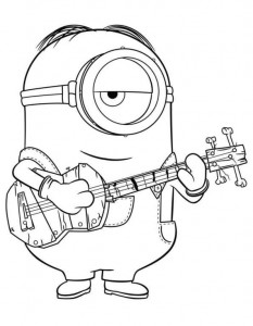 coloring page minions 34