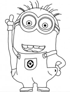 coloring page minions 36