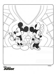 coloring page minnie og mickey