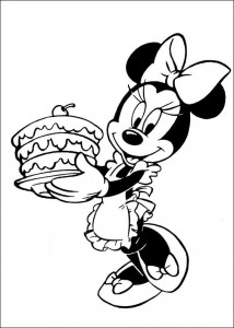 kleurplaat Minnie Mouse (19)