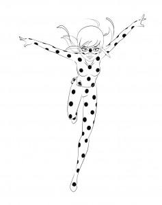 målarbok Miraculous Ladybug 2