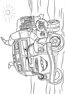 coloring page miss fritter
