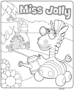 pagina da colorare Miss Jolly