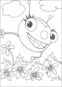kleurplaat Miss Spider (1)