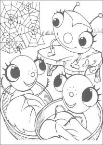 kleurplaat Miss Spider (10)