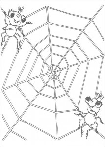 kleurplaat Miss Spider (13)