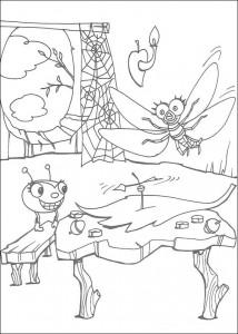 målarbok Miss Spider (5)