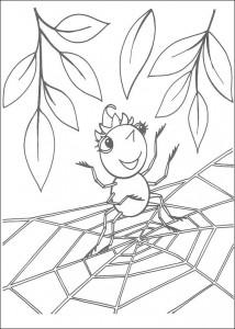kleurplaat Miss Spider (7)
