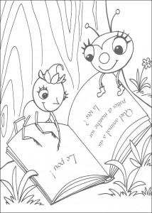 kleurplaat Miss Spider (8)