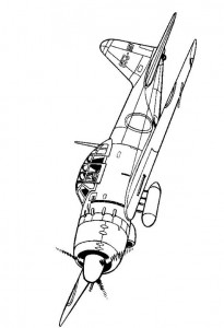 coloring page Mitsubishi A6M5C Null 1944