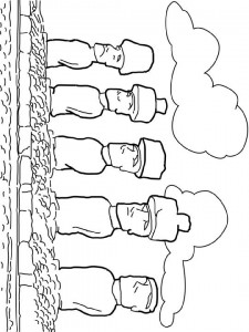 coloring page Moai images