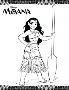 coloring page moana 2