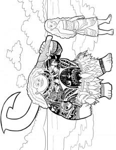 coloring page moana maui (1)