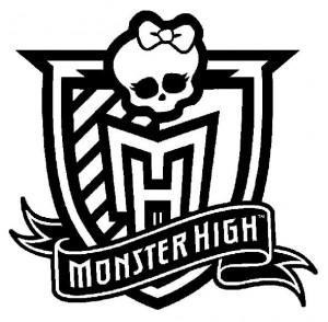målarbok Monster High Logo