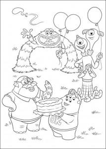 målarbok Monsters University (2)