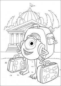 målarbok Monsters University