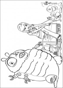 kleurplaat Monsters vs Aliens (11)