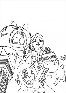 coloring page Monsters vs Aliens (12)