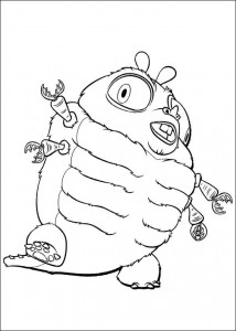 coloring page Monsters vs Aliens (7)