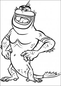kleurplaat Monsters vs Aliens (9)