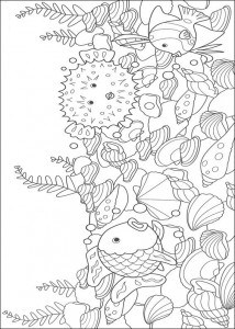 coloring page Most beautiful fish with hedgehog fish