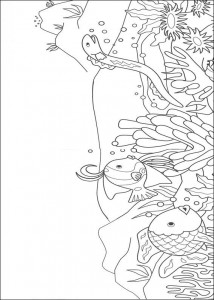 kleurplaat Mooiste vis van de zee (1)