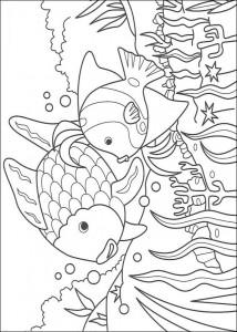 kleurplaat Mooiste vis van de zee (3)