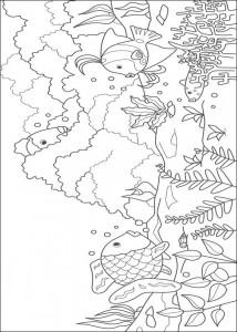 kleurplaat Mooiste vis van de zee (4)