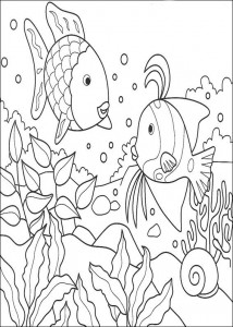 kleurplaat Mooiste vis van de zee (6)
