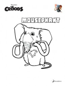 coloring page Mousephant