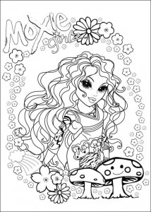 kleurplaat Moxie Girlz (8)