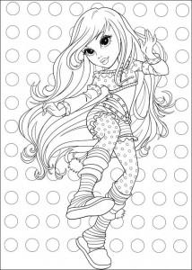 kleurplaat Moxie Girlz