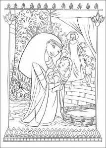 coloring page Moses is saved