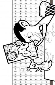 kleurplaat Mr Bean (8)