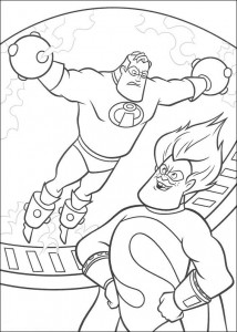 coloring page Incredible and Syndrome