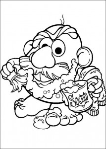 boyama sayfası Patates Kafa (13)