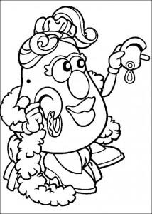 boyama sayfası Patates Kafa (8)